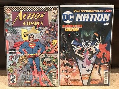 SALE (Ends Soon) Action Comics #1000 - 1960's Variant - + DC Nation #0 - DC - NM