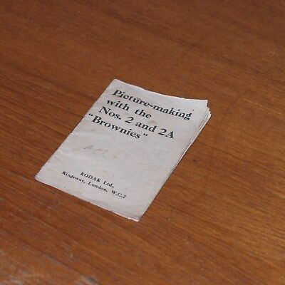 Original Instructions for KODAK BROWNIE Nos.2 and 2A in ENGLISH 30 pages UK