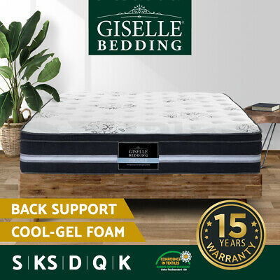 Giselle Bedding Queen Mattress Double King Bed Pocket Spring Gel Memory Foam
