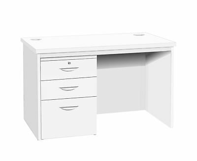R White Home Office Freestanding Desk with Drawers