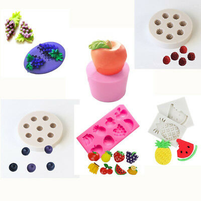 Multi Fruit Apple Cake Silicone Mold Mould Chocolate Sugarcraft Soap Icing Tray