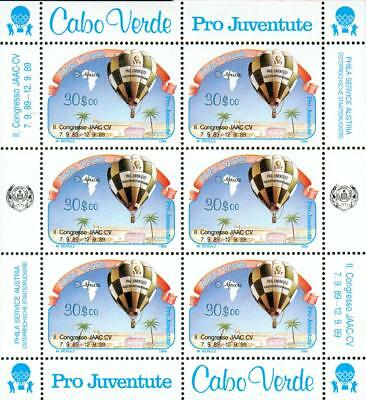 Cape Verde Michel Nr.558 mini sheet ** MNH balloon gr54