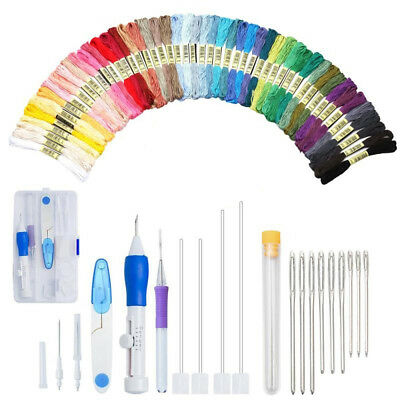 5 Type Magic Diy Embroidery Pen Set Knitting Sewing Tool Punch Needle Adjustable