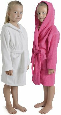 Tom Franks Girls Hooded Towelling Robe Dressing Gown