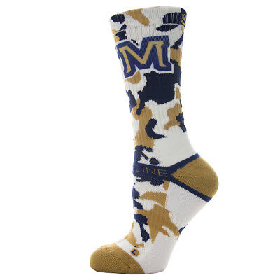 Strideline Athletic Crew Socks Montana State Team Camo 5000111 Strapped Fit Mens