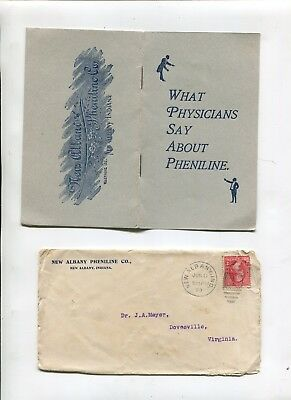 Vintage Booklet 1899 WHAT PHYSICIANS SAY ABOUT PHENILINE Drug Antipyretic