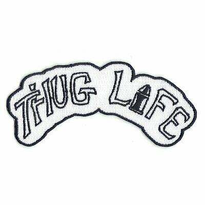 Thug Life Tattoo Script Iron On Embroidered Patch
