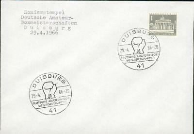 Germany FRG BRD cover boxing Duisburg 1966 Boxen bv07