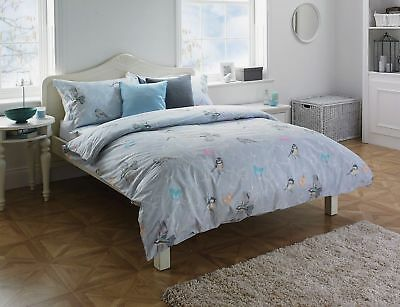 NEW Riva Home 100% Cotton Tweet Grey Duvet Cover Set - Double