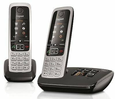 Gigaset C430A Twin Cordless Home Phone with Answering Machine Loudspeaker Duo