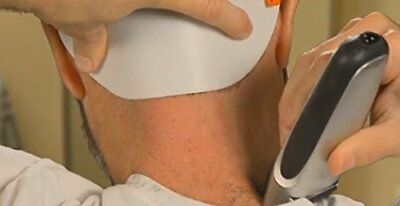 The Barber's Edge Template w/ Headband for Keeping Clean Straight Neck Hairline