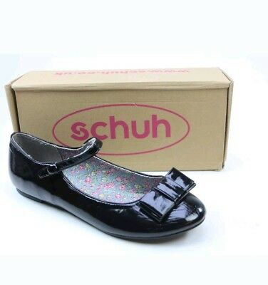 Brand new Bow Black Leather Look Ballerina Flat Pumps Shoes Size 7 from Schuh