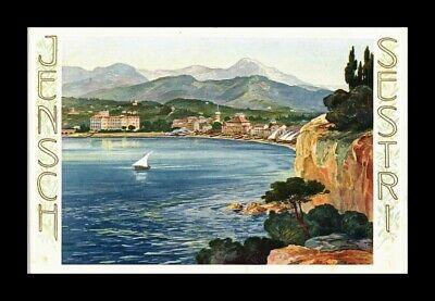 Dr Jim Stamps  Postcard Italy Coastal Scene Painting
