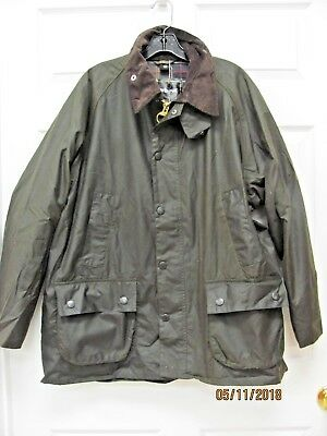 NWT Barbour Classic Bedale Jacket Olive Waxed Cotton Size 46 Made England