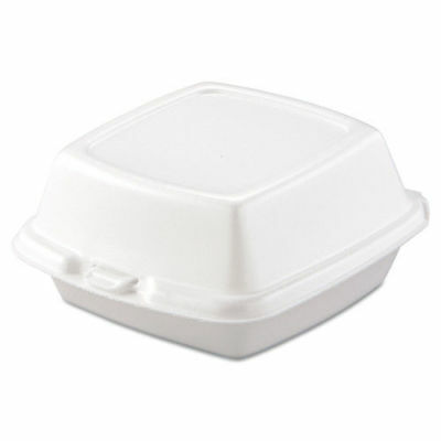 Dart Carryout Food Containers, Foam, 1-Comp, 5 7/8 X 6 X 3, White, 500/carton  6