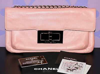 1f3f53d32563 CHANEL 2.55 REISSUE Oversized Clutch Chain Shoulder *Lambskin* Evening FLAP  Bag!