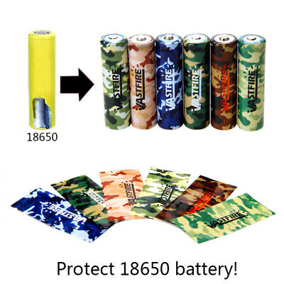 10X VastFire 18650 Battery Wraps PVC Shrink Vape Customer Pre-cut Mods Rda Tool