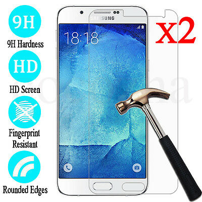 2X Tempered Glass 9H Film Screen Protector Cover For Samsung Galaxy J1 2 3 5 7 ^