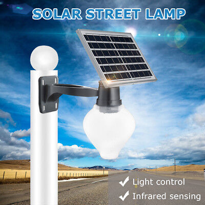 Solar Power Panel Lamp LED Outdoor Street Wall Street Lamp Induction Light AU