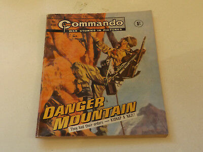 Commando War Comic Number 430,1969 Issue,v Good For Age,49 Years Old,very Rare.