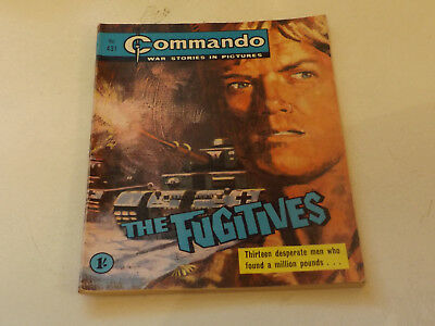 Commando War Comic Number 431,1969 Issue,v Good For Age,49 Years Old,very Rare.
