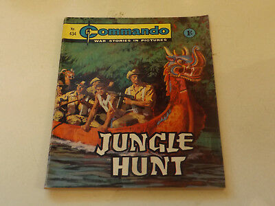 Commando War Comic Number 434,1969 Issue,v Good For Age,49 Years Old,very Rare.