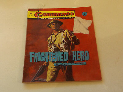 Commando War Comic Number 436,1969 Issue,v Good For Age,49 Years Old,very Rare.