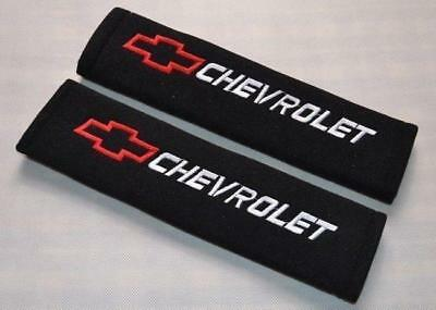 Fashion Black Car Seat Belt Shoulder Pads Covers Cushion For USA CHEVROLET NEW #