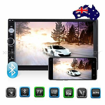 """7"""" Car Stereo Radio MP5 Player Bluetooth Touch Screen AUX FM Mirror Link 2DIN AU"""