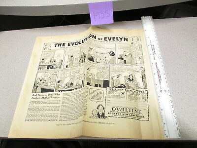 OVALTINE PROOF 1935 mag news ad blank back LITTLE ORPHAN ANNIE premium EVELYN