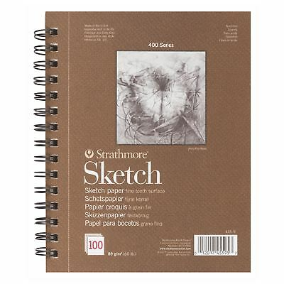 sketch pad 100 sheets 89 gsm strathmore 400 series fine tooth