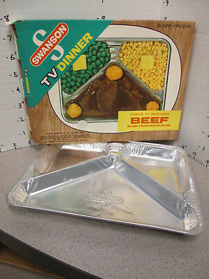 SWANSON 1960s TV DINNER beef, peas, corn Campbell's soup vintage food + tray