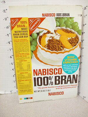 NABISCO 100% BRAN laxative cereal box food 1966 psychedelic embroidery pillow