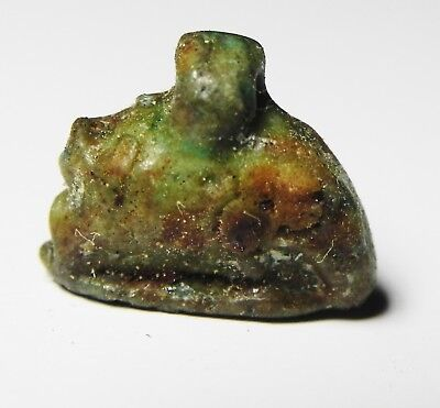Zurqieh -As4840-  Ancient Egypt, Faience Sow Amulet. 600 - 300 B.c