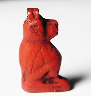 Zurqieh -As4846-  Ancient Egypt, New Kingdom  Red Jasper Amulet Of A Baboon