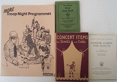 LOT 7. Four old books SCOUT Activities & Games. Scouting