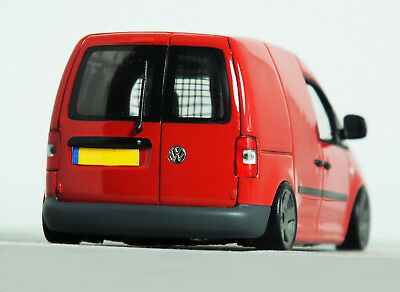 1 43 vw caddy van 39 stanced 39 tornado red modified. Black Bedroom Furniture Sets. Home Design Ideas