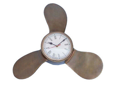 "Handcrafted Nautical Decor Decorative Ships Propeller 18"" Clock"