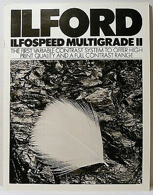 Book ILFORD ILFOSPEED MULTIGRADE II System Equipment Photography Manual Guide