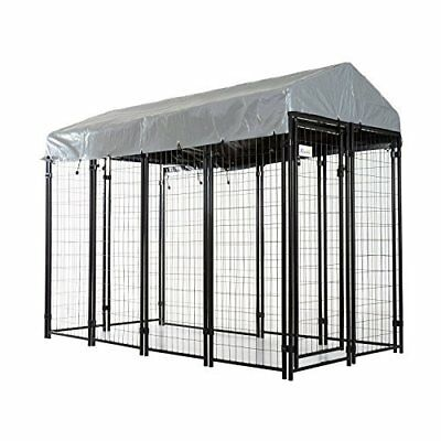 Pawhut Outdoor Covered Dog Yard Kennel