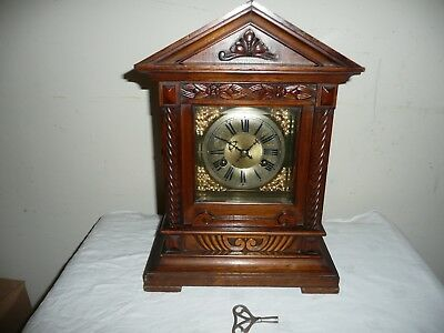 Antique, Junghans,Ting Tang Bracket Clock, Very Good Cosmetic Condition.