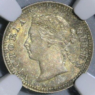 1886 NGC MS 61 MAURITIUS Silver 10 Cents Mint State Coin (15110103D)