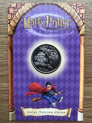 2002 1 One Crown HARRY POTTER Burrow Presentation Coin 2002 Isle of Man