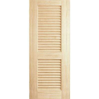"Kimberly Bay Solid Wood Louvered Slab Interior Door 80"" H x 24"" W x 1.38"" D"