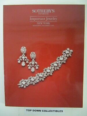 Sotheby's   Important  Jewelry Auction Catalog,  New York 2005 + Results