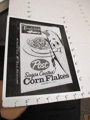 orig photo premium POST Sugar Corn Flakes cereal box F&F Thunderbird car model