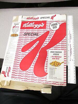 cereal box KELLOGGS 1958 SPECIAL K LARGE 10.5 oz High Protein