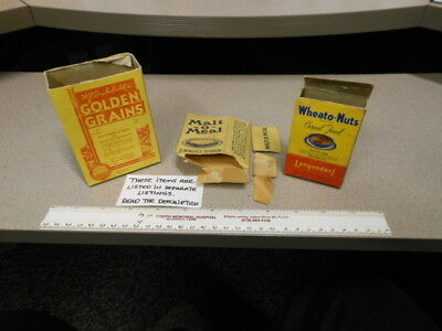 cereal box single serving W.J. Archibald's GOLDEN GRAINS 1930s sample size
