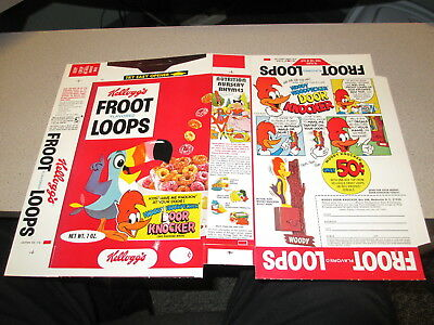 cereal box WOODY WOODPECKER 1970 Fruit Loops file copy Door Knocker premium