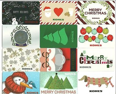 Lot (13) 2016 Kohl's Gift Cards No $ Value Collectible Christmas Santa Snowman